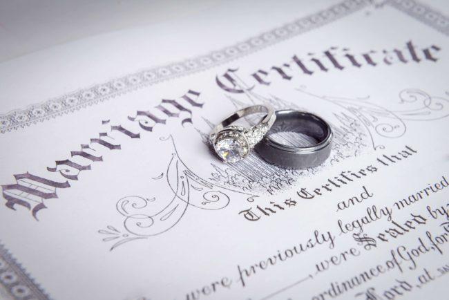 marriage certificate copy